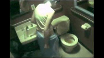 28653 hidden cam - caught boning in restroom.