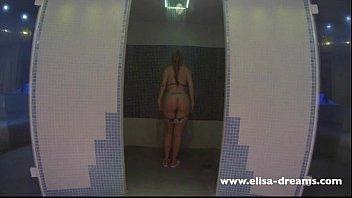 flashing my figure in a spa.