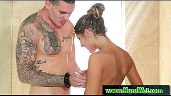 Nru Slippery Massage And Nuru Gel Sex Video 16
