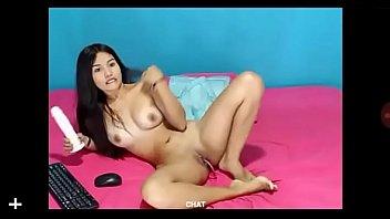 Skinny Latina Cam girl Masturbating