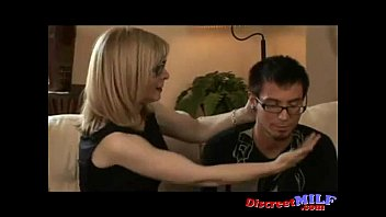 Mature MILF With Young Nerd