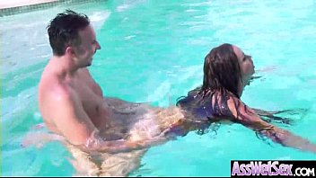 (Nikki Benz) Big Oiled Butt Girl Love Anal Hardcore Sex clip-22
