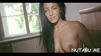 nubile moans with sheer pleasure in her solo.