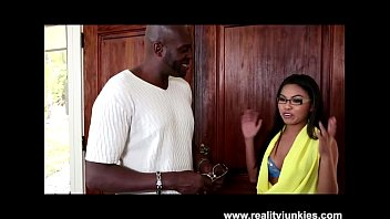 Big Black Cock for Petite Asian Teen Cindy Starfall with Glasses
