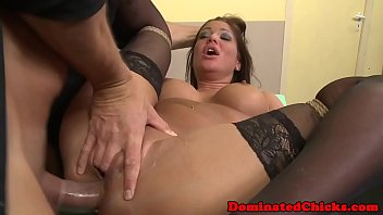 bum-plumbed predominated lady gets facialized