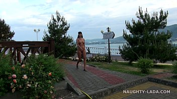 nude in public seafront