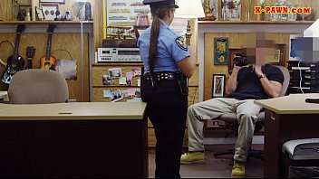 Latin police officer screwed by pawn guy