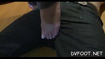 cutie feet gobbled in hosepipe