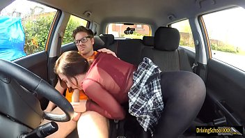 lola fae poked by driving professor