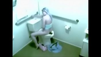 security webcam caught sweetie rest room.