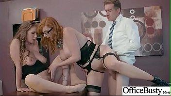 (Lauren Phillips &amp_ Lena Paul) Big Tits Office Girl Bang Hardcore clip-19