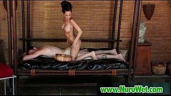 spicy masseuse gives a slimy nuru.