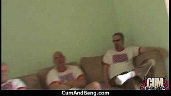 cum and bang - group facial jizz 21