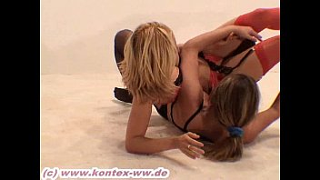 stocking catfight larissa vs joy