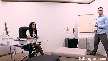 Sexy secretary fucks her boss