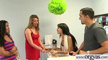 (Esmi Lee&amp_Ava Taylor) Superb Girl Get Seduced With Money And Bang On Camera clip-11