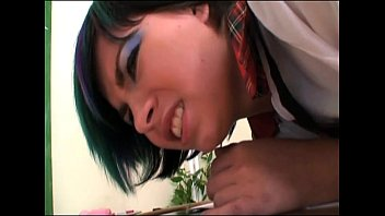 Brat schoolgirl spanked and forced to give a blow job!