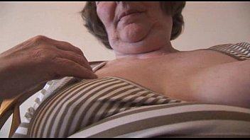 mind-blowing furry grandmother in mini microskirt