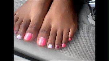 cougar shannon rosy toenails