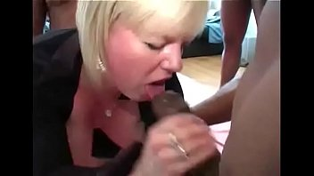 Big black cock anal gangbang with amateur big natural tits hot milf