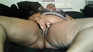 Nasty Nympho playing with dat Phat Hairy Pussy