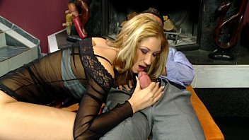 Sensual Handjob and Blowjob with cumshot on pussy by beautiful blonde