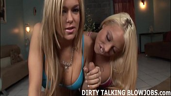 how would you like two blondes inhaling you off