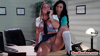 Hot Lesbians With Big Boobs Hardcore Fuck In Office 25