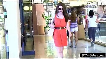 supah-naughty teenage doll taunting her spectacular assets in public