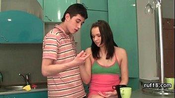 Teen in light bondage