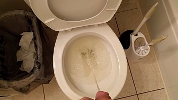 Desperate long pee after holding it