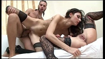 Big cock in the middle of two amazing sluts!