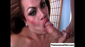 ample pecker shemale gets her caboose.