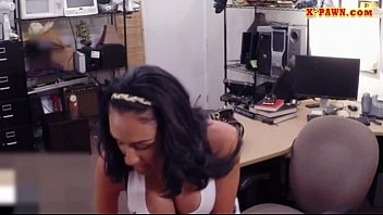 Big juggs latina gets her pussy screwed by pawn dude