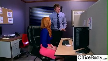 (Lauren Phillips) Big Tits Horny Office Girl Get Nailed Hardcore vid-12