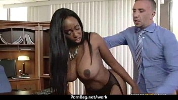 Busty chick is desperate for a raise and fucks her boss and earn it 18