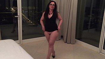 My Curvy Brazilian Wife showing her huge jiggling ass