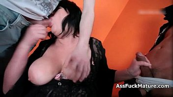 Dirty mature slut with big tits fucked