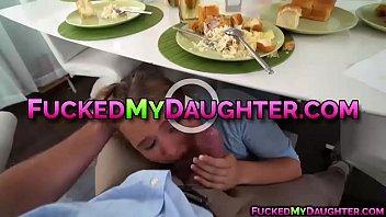 Horny mom and teen fucks their new neighbor