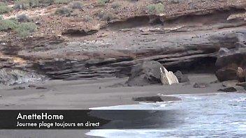 onanism en direct web cam de la plage.