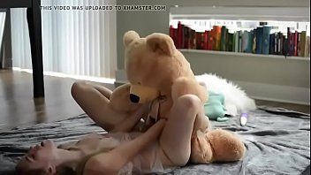 Sweet teen blonde fuck her teddy bear- Watch Part2 on SweetTeenCam.com