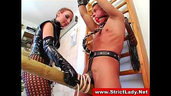 Bondage bitch gets her femdom on with bizarre bdsm