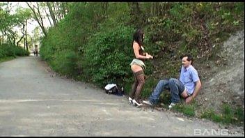 chez mega-bitch rihanna samuel pounded outdoor