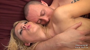 Gorgeous amateur big titted french blonde deeply sodomized with cum to mouth