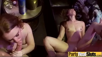 (nicki &amp_ ryan &amp_ tiffany) Teen Party Girls Enjoy Hard Group Sex On Tape clip-10