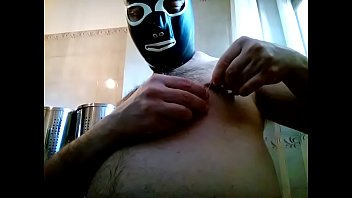 Kocalos - Piercing my nipples with needles