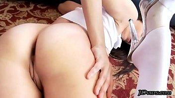 Dana DeArmond gagging on big cock