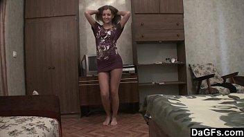 The hottest skinny teen dance on webcam