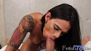 Rosy Pinhero teases before sucking a big fat cock POV