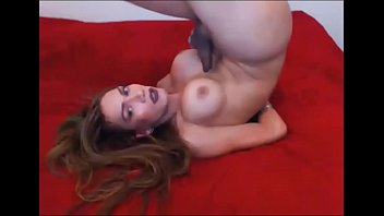 Cute Shemale Cumming All Over her Own Face